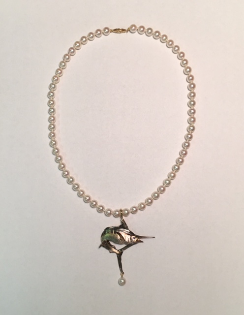 Pearl Necklace With Marlin